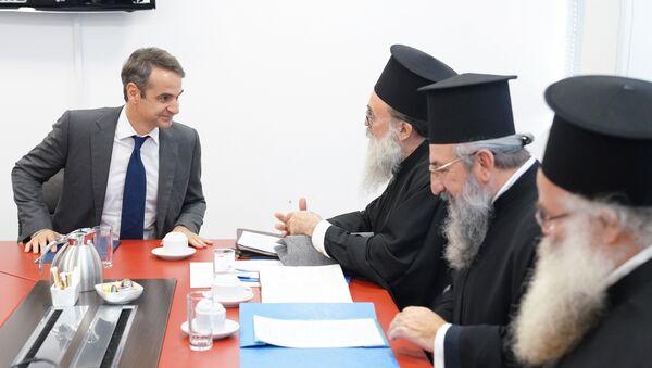 Συνάντηση του Κυριάκου Μητσοτάκη με την Ιερά Σύνοδο της Εκκλησίας της Κρήτης - Sputnik Ελλάδα