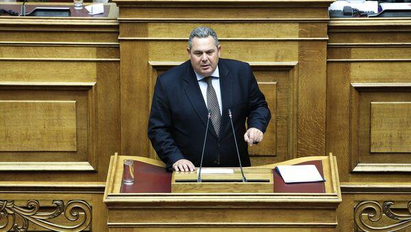 Ο Πάνος Καμμένος στην Ολομέλεια της Βουλής για τη συνταγματική αναθεώρηση - Sputnik Ελλάδα