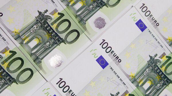 Χαρτονομίσματα των 100 ευρώ - Sputnik Ελλάδα