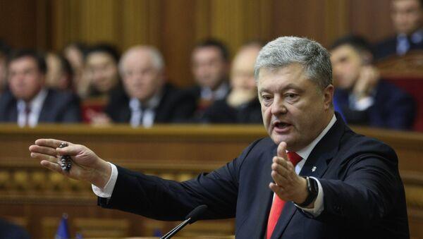 Ο πρόεδρος της Ουκρανίας, Πέτρο Ποροσένκο - Sputnik Ελλάδα