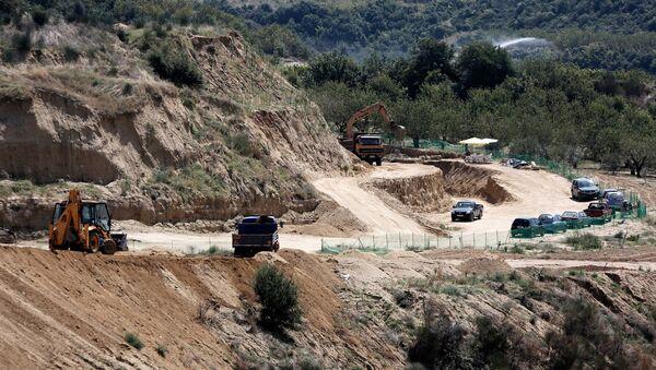 Αρχαιολογικές ανασκαφές στον λόφο Καστά, Αμφίπολη. - Sputnik Ελλάδα