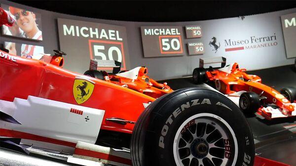Η Ferrari γιόρτασε τα γενέθλια του Σουμάχερ με μία έκθεση αφιερωμένη σε αυτόν - Sputnik Ελλάδα