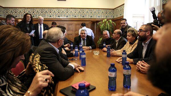 Συνεδρίαση της Εκτελεστικής Επιτροπής των Ανεξαρτήτων Ελλήνων υπό τον Πάνο Καμμένο στις 9 Ιανουαρίου, 2019 - Sputnik Ελλάδα