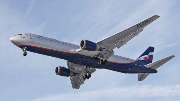 Aeroflot Russian Airlines Boeing-767 at Sheremetyevo airport. - Sputnik Ελλάδα