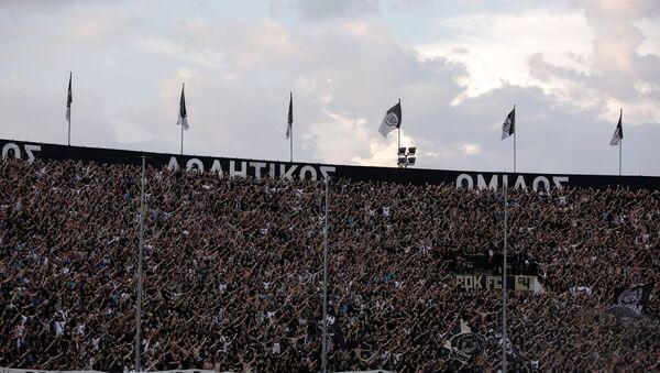 Οι οπαδοί του ΠΑΟΚ στην εξέδρα της Τούμπας - Sputnik Ελλάδα