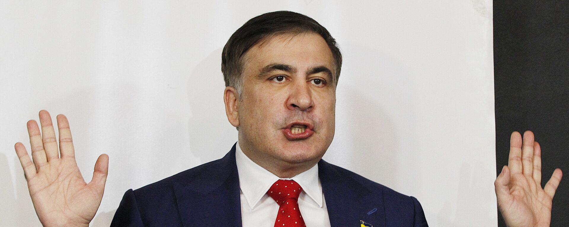 Ο πρώην πρόεδρος της Γεωργίας Μιχαήλ Σαακασβίλι - Sputnik Ελλάδα, 1920, 01.10.2021