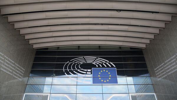 Το σύμβολο της Ευρωπαϊκής Επιτροπής στα κεντρικά γραφεία στις Βρυξέλλες - Sputnik Ελλάδα