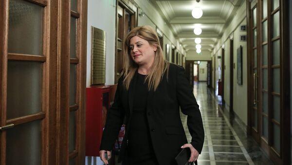 Η υφυπουργός Μακεδονίας - Θράκης Ελευθερία Χατζηγεωργίου - Sputnik Ελλάδα
