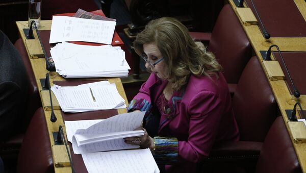 Η βουλευτής Θεοδώρα Μεγαλοοικονόμου - Sputnik Ελλάδα