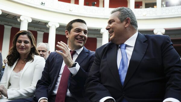 Αλέξης Τσίπρας με γραβάτα - Sputnik Ελλάδα