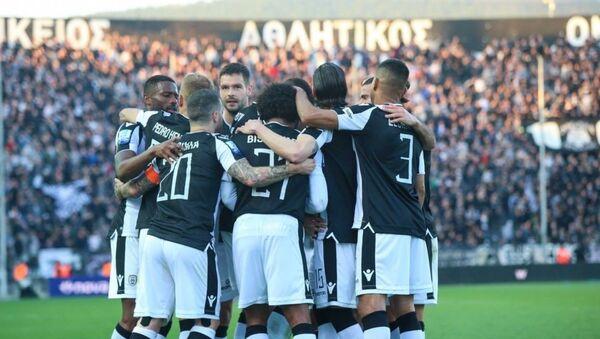 Οι παίκτες του ΠΑΟΚ πανηγυρίζουν στην Τούμπα - Sputnik Ελλάδα