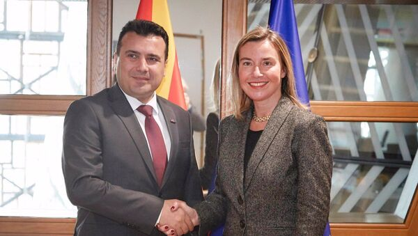 Ζόραν Ζάεφ και Φεντερίκα Μογκερίνι - Sputnik Ελλάδα