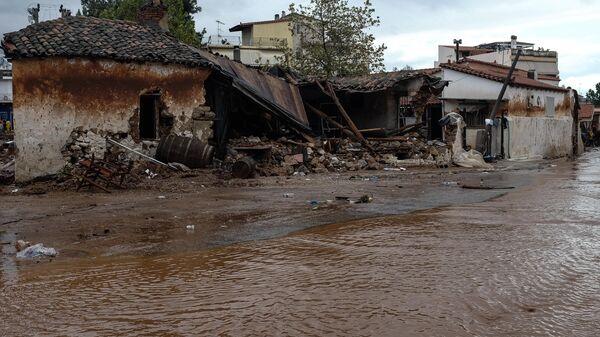 Εικόνα από την πλημμύρα στη Μάνδρα το 2017 - Sputnik Ελλάδα