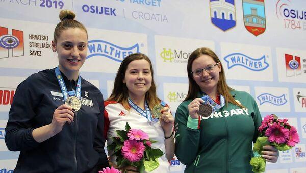 Η Άννα Κορακάκη με το ασημένιο μετάλλιο στο Ευρωπαϊκό Πρωτάθλημα - Sputnik Ελλάδα