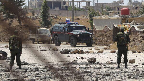 Όχημα της ρωσικής στρατιωτικής αστυνομίας στη Συρία - Sputnik Ελλάδα