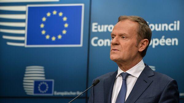 Ο πρόεδρος του Ευρωπαϊκού Συμβουλίου, Ντόναλντ Τουσκ - Sputnik Ελλάδα