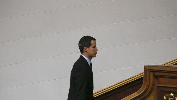 Ο Χουάν Γκουάιδο ηγέτης της αντιπολίτευσης της Βενεζουέλας - Sputnik Ελλάδα