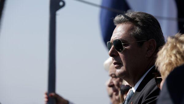 Ο Πάνος Καμμένος στην τελετή παρασημοφόρησης της πολεμικής σημαίας του «Γ. ΑΒΕΡΩΦ» - Sputnik Ελλάδα