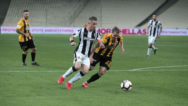 Ο Δημήτρης Πέλκας σε φάση από τον τελικό Κυπέλλου ΠΑΟΚ - ΑΕΚ - Sputnik Ελλάδα