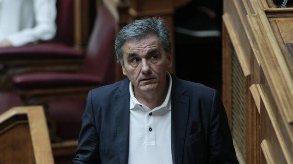 Ο Ευκλείδης Τσακαλώτος στη Βουλή. - Sputnik Ελλάδα