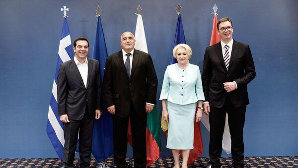 Οι ηγέτες της Ελλάδας, της Βουλγαρίας, της Ρουμανίας και της Σερβίας κατά την Τετραμερή συνάντηση στη Θεσσαλονίκη - Sputnik Ελλάδα