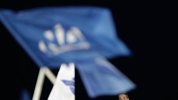 Προεκλογική ομιλία του Προέδου της Νέας Δημοκρατίας, Κυριάκου Μητσοτάκη, στη Θεσσαλονίκη στις 24 Μαΐου, 2019.  - Sputnik Ελλάδα