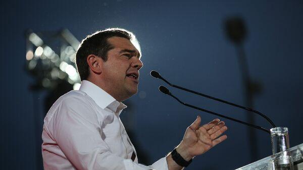 Προεκλογική ομιλία τοπυ Αλέξη Τσίπρα, στον Πειραιά, στις 19 Μαΐου, 2019. - Sputnik Ελλάδα