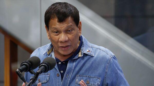 Ο πρόεδρος των Φιλιππίνων, Ροντρίγκο Ντουτέρτε  - Sputnik Ελλάδα
