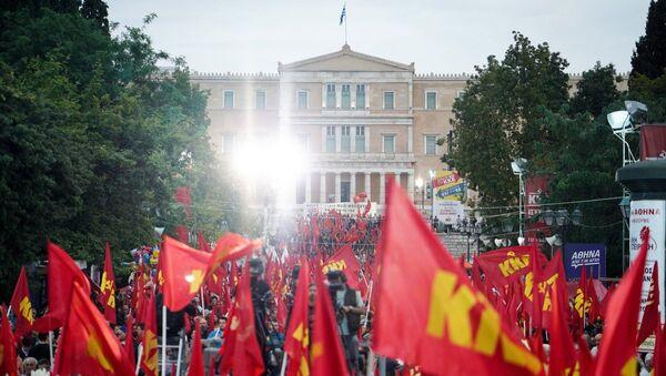 Προεκλογική συγκέντρωση του ΚΚΕ - Sputnik Ελλάδα