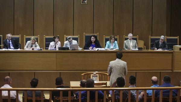Στιγμιότυπο από τη δίκη της Χρυσής Αυγής - Sputnik Ελλάδα