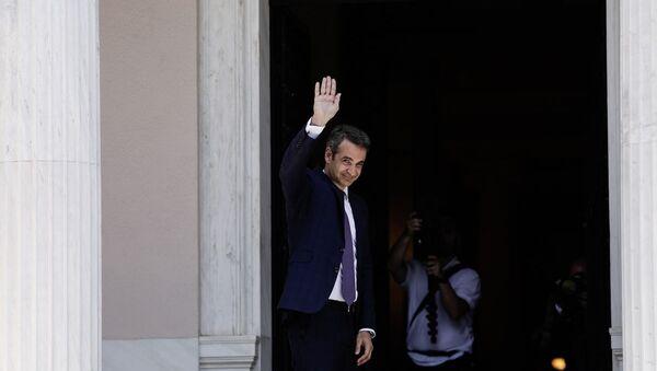 Ο νέος πρωθυπουργός Κυριάκος Μητσοτάκης στο Μέγαρο Μαξίμου - Sputnik Ελλάδα