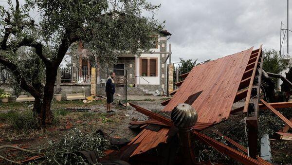 Καταστροφές από ακραία καιρικά φαινόμενα στη Σωζόπολη Χαλκιδικής - Sputnik Ελλάδα