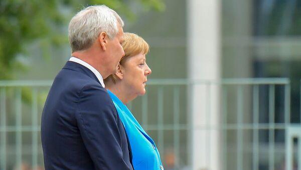 Συνάντηση της Μέρκελ με τον Φινλανδό πρωθυπουργό, Ιούλιος 2019. - Sputnik Ελλάδα