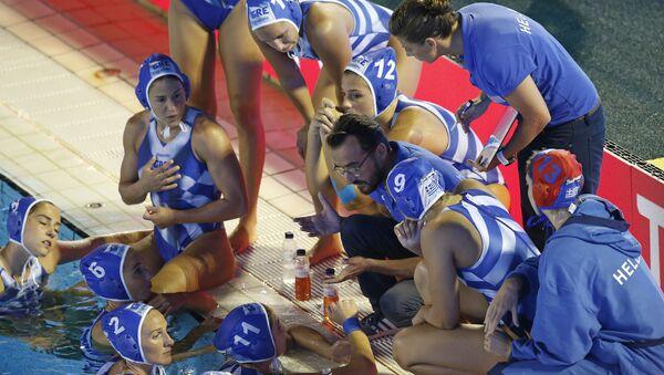 Η εθνική ομάδα πόλο των Γυναικών στο Ευρωπαϊκό Πρωτάθλημα - Sputnik Ελλάδα