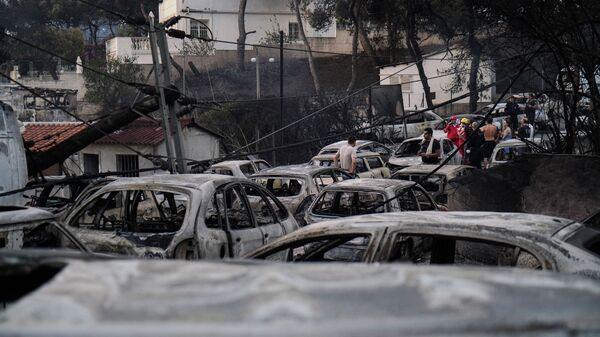 Πυρκαγιά στο Μάτι - Τότε και τώρα - (2018) - Sputnik Ελλάδα