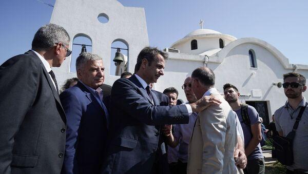 Μνημόσυνο στη μνήμη των θυμάτων, στην Ραφήνα, 23 Ιουλίου 2019. Συμπληρώνεται ένας χρόνος από τη φωτιά στο Μάτι που στοίχισε τη ζωή 102 ανθρώπους. - Sputnik Ελλάδα