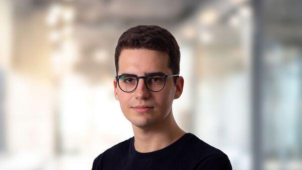 Ο Βαγγέλης Καραθάνος, ιδρυτής και διευθύνων σύμβουλος της Geabit - Sputnik Ελλάδα