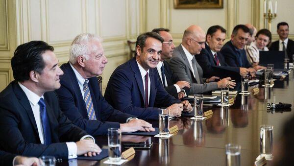 Ο Κυριάκος Μητσοτάκης στο υπουργικό συμβούλιο - Sputnik Ελλάδα