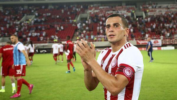 Ο Ομάρ Ελαμπντελαουί μετά το ματς Ολυμπιακός - Πλζεν 4-0 - Sputnik Ελλάδα