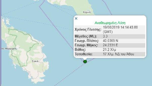 Ασθενής σεισμική δόνηση στη Χαλκιδική - Sputnik Ελλάδα