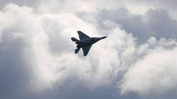 Το αεροσκάφος MiG-35 στην αεροπορική επίδειξη MAKS-2019 στη Ρωσία.  - Sputnik Ελλάδα