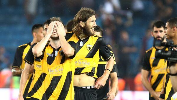 Απογοητευμένοι οι παίκτες της ΑΕΚ στην Τραπεζούντα - Sputnik Ελλάδα