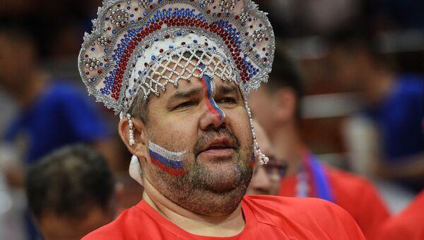 Οπαδός της Ρωσίας σε αγώνα του Μουντομπάσκετ στην Κίνα - Sputnik Ελλάδα