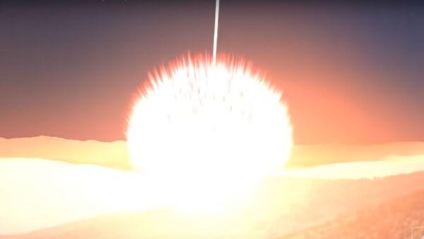 Αναπαράσταση σύγκρουσης αστεροειδή με τη Γη - Sputnik Ελλάδα