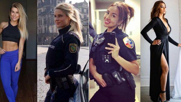 Γερμανίδες αστυνομικίνες ποζάρουν στο  Instagram - Sputnik Ελλάδα