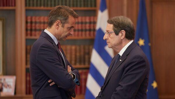 Συνάντηση Κυριάκου Μητσοτάκη - Νίκου Αναστασιάδη στην Αθήνα, 10 Σεπτεμβρίου 2019 - Sputnik Ελλάδα