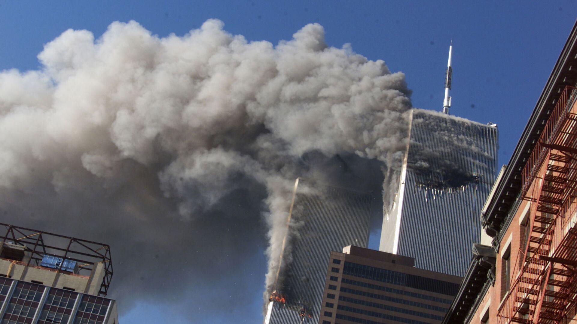 Εικόνα από τις επιθέσεις της 11ης Σεπτεμβρίου 2001. - Sputnik Ελλάδα, 1920, 11.09.2021