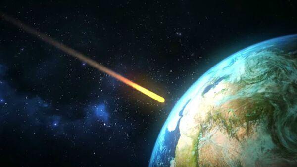 Αναπαράσταση του αστεροειδή που εξαφάνισε τους δεινόσαυρους - Sputnik Ελλάδα