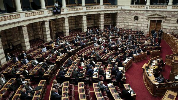 Συζήτηση στη Βουλή για τη συγκρότηση προανακριτικής επιτροπής σχετικά με τον ρόλο του Δημήτρη Παπαγγελόπουλου στην υπόθεση Novartis - Sputnik Ελλάδα