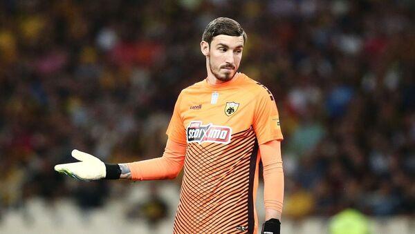 Ο τερματοφύλακας της ΑΕΚ Βασίλης Μπάρκας - Sputnik Ελλάδα